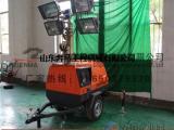 7米拖车照明车 4*1000W消防应急照明车 施工移动灯塔