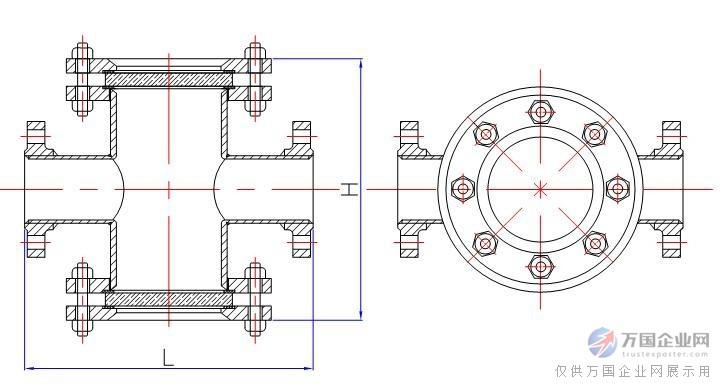 管道直通视镜结构图