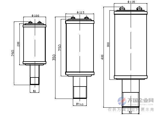 螺纹式排气放空消声器