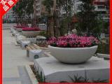 人造石材花钵 大理石花钵 现代移动碗型石雕花钵厂家推荐
