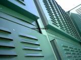 山东绿色隔音墙 绿色隔音板 绿色彩钢组合隔音墙