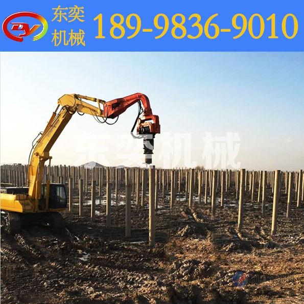 挖掘机改打桩机价格 液压振动锤报价图片