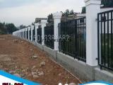 围墙栅栏 锌钢防护栏 服务收费区锌钢公路护栏 金属围墙栏杆