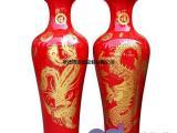 粉彩陶瓷大花瓶,手工雕刻陶瓷大花瓶,陶瓷纪念礼品大花瓶