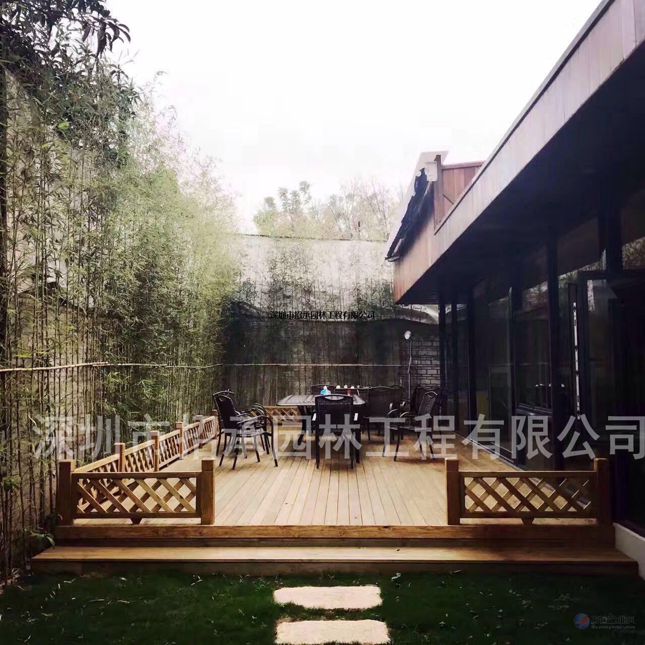 龙华楼顶阳台自然景观 防腐木生态木吊顶墙板木板