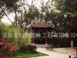 深圳别墅小区花园进口防腐木景观设计铺装