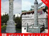 福建石雕龙柱生产厂家 青石盘龙柱 广场石材盘龙柱