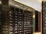 杭州厂家定制生产304黑钛镜面不锈钢酒柜