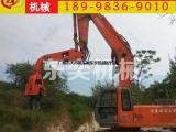钢板桩打桩机械手 挖掘机移动打桩设备
