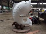 杭州富阳园林人物不锈钢雕塑 厂家供应