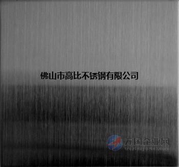 黑钛拉丝不锈钢板  304不锈钢发纹拉丝板电镀黑钛