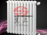 冀上-工程钢制二柱暖气片 冀州钢二柱散热器厂家
