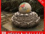 石雕风水球厂家 石雕风水球喷泉 花岗岩户外流水转运球