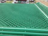 羽毛球场围栏网¥室外羽毛球场区防护围网¥羽毛球场地绿色菱形网