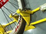 自行车停车架带锁功能防盗防剪自行车地桩锁车器厂家发货