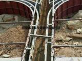 高速拱形护坡模具现场施工