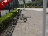 厂家供应市政公共自行车停车架弹簧螺旋式非机动车停放固定架子