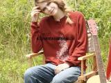 春装新款刺绣圆领打底针织衫长袖女装套头毛衣春秋季