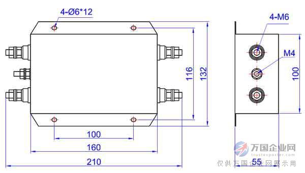 10000pf ◆ 电路原理图     ◆ 插入损耗 (50ω测量系统,gb7343