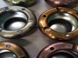 高档黄古铜不锈钢烟灰缸  不锈钢工艺品水镀黄古铜色