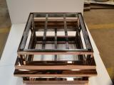 镜面玫瑰金不锈钢茶几供应 厂家生产高比不锈钢茶几