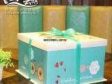 高端环保食品级生日蛋糕盒 包装打包外卖蛋糕盒三合一盒