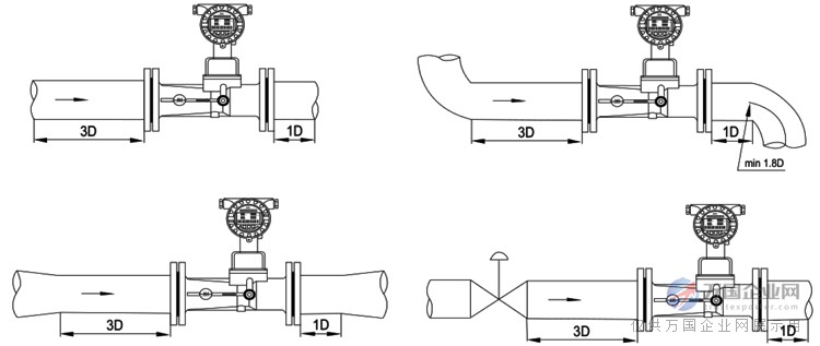 旋進旋渦氣體流量計安裝要求