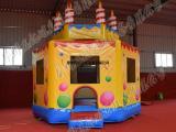 供应厂家直销新款蛋糕充气蹦床 充气城堡 小蹦床 儿童乐园