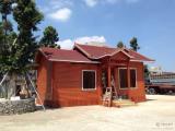 户外木屋安装厂家防腐木屋四角凉亭别墅木屋设计