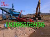 移动沙金洗矿筒 圆筒筛淘金设备 移动淘金车