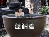 酒店温泉中心洗浴会所陶瓷泡澡缸浴室用的洗澡大缸洗浴大缸厂家