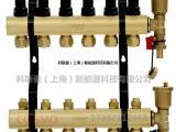 汝阳科斯曼地暖分集水器 黄铜地暖分水器集水器2~8路
