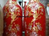 景德镇陶瓷手绘花开富贵大花瓶中式时尚客厅装饰品落地家居大摆件