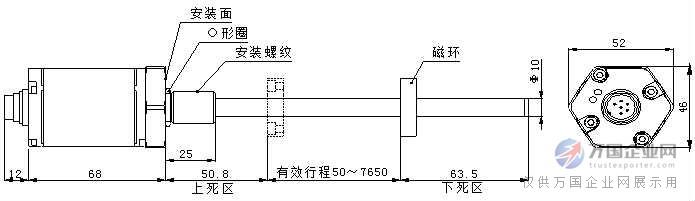 智能磁致伸缩位移传感器