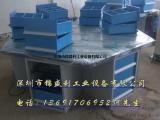 福建教育装备四工位钳工操作桌|六角钳工实训桌|六边型钳工桌
