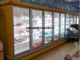 界首玻璃门风幕柜,超市立风柜,蔬菜、饮料冷藏柜