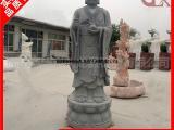 芝麻黑地藏王 户外站像大型石雕地藏王菩萨 寺庙佛像雕像