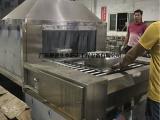 串杆网带式不锈钢厨具清洗机 拉伸盆喷淋清洗机