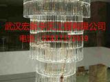 武汉灯具安装公司,酒店会所大型水晶灯安装,装各种灯