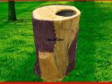 水泥仿木水泥垃圾桶垃圾箱回收站 户外环保用品街道马路果皮箱