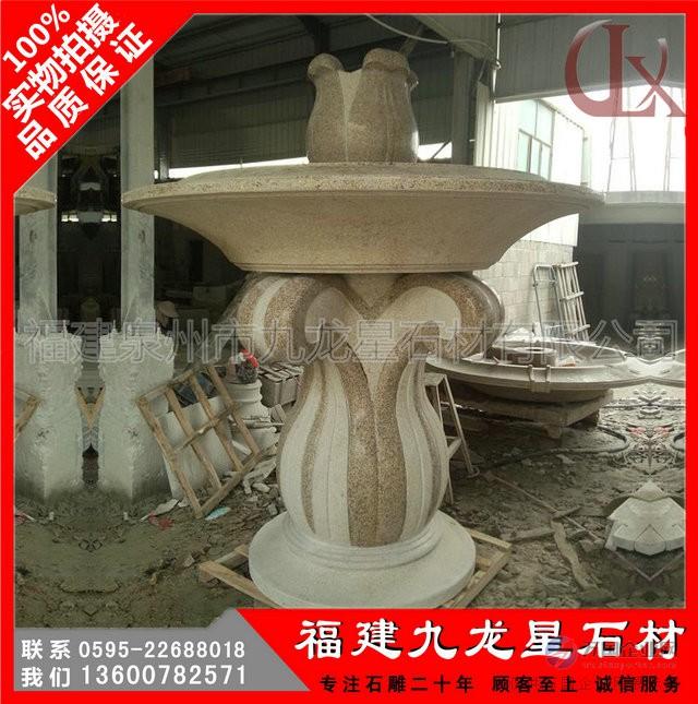 石雕白麻黄锈石水钵 欧式景观水钵 石雕喷泉广场水景雕塑