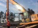 挖掘机打钢板桩、液压打桩锤 打拔6米钢板桩
