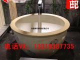景德镇厂家直销陶瓷洗浴大缸1.1米1.2m温泉会所养生泡澡缸