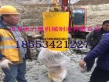 江油大型液压破石机底孔参数选择及钻孔