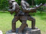 原著雕塑厂家供应玻璃钢消防员雕塑 公园主题雕塑摆件