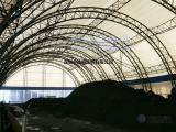 充气储煤仓,封闭式气膜储煤厂,找中德