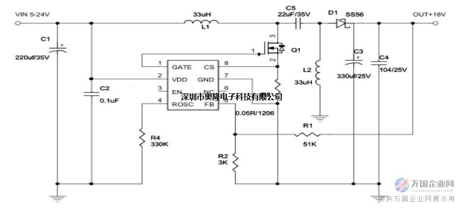 12v转19v 3A;24v转48v 2A; 大电流升降压方案;5v转12v 3A;9v-24v转12v2A; 概述: AL1540是一款专为升压、升降压开 关电源设计的专用 DC-DC 控制器芯片。 AL1540典型应用支持 5-40V输入电 压范围。通过扩展输入供电,也可以支持 400V以上的输入电压范围。 芯片采用固定频率的 PWM 控制方 式,并在轻载条件下自动降频提高转换效 率。 芯片内置高精度误差放大器, 振荡器, 以及频率补偿电路,简化了外围设计。芯 片内置过流保护以及 EN脚关断功能。 芯