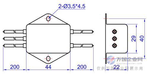 优质p封装差模增强型单相电源滤波器
