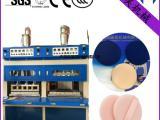 两工位气垫粉扑热压成型机 CC霜粉扑|化妆粉扑生产设备