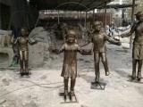 跳绳雕塑,玻璃钢小孩跳绳雕塑